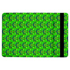 Green Abstract Art Circles Swirls Stars iPad Air Flip