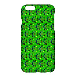 Green Abstract Art Circles Swirls Stars Apple Iphone 6 Plus/6s Plus Hardshell Case