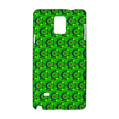 Green Abstract Art Circles Swirls Stars Samsung Galaxy Note 4 Hardshell Case