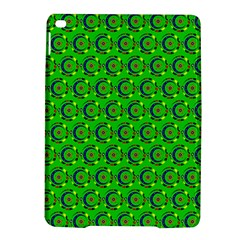 Green Abstract Art Circles Swirls Stars iPad Air 2 Hardshell Cases