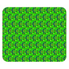Green Abstract Art Circles Swirls Stars Double Sided Flano Blanket (Small)