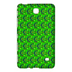 Green Abstract Art Circles Swirls Stars Samsung Galaxy Tab 4 (8 ) Hardshell Case