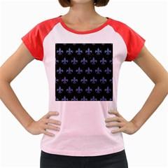 RYL1 BK-MRBL BL-DENM (R) Women s Cap Sleeve T-Shirt