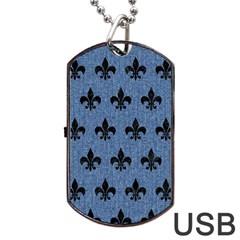 RYL1 BK-MRBL BL-DENM Dog Tag USB Flash (One Side)
