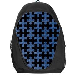 Puzzle1 Black Marble & Blue Denim Backpack Bag