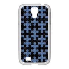 PUZ1 BK-MRBL BL-DENM Samsung GALAXY S4 I9500/ I9505 Case (White)