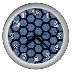 HXG2 BK-MRBL BL-DENM (R) Wall Clocks (Silver)