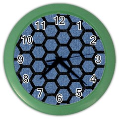 HXG2 BK-MRBL BL-DENM (R) Color Wall Clocks