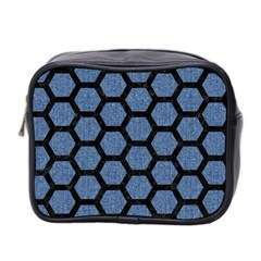 HXG2 BK-MRBL BL-DENM (R) Mini Toiletries Bag 2-Side