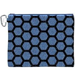 HXG2 BK-MRBL BL-DENM (R) Canvas Cosmetic Bag (XXXL)