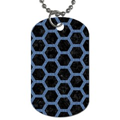 HXG2 BK-MRBL BL-DENM Dog Tag (One Side)