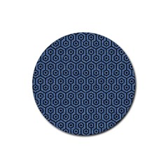 HXG1 BK-MRBL BL-DENM (R) Rubber Round Coaster (4 pack)