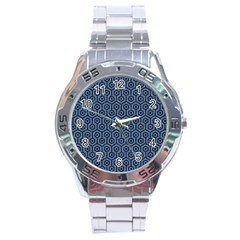HXG1 BK-MRBL BL-DENM (R) Stainless Steel Analogue Watch
