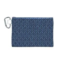 HXG1 BK-MRBL BL-DENM (R) Canvas Cosmetic Bag (M)