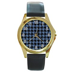 HTH2 BK-MRBL BL-DENM Round Gold Metal Watch