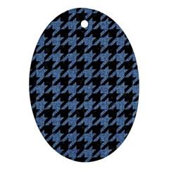 HTH2 BK-MRBL BL-DENM Oval Ornament (Two Sides)