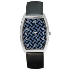 HTH1 BK-MRBL BL-DENM Barrel Style Metal Watch