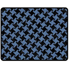 HTH1 BK-MRBL BL-DENM Fleece Blanket (Medium)