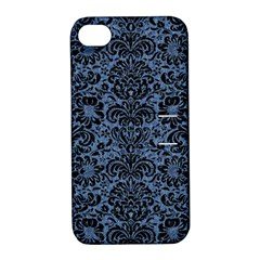 DMS2 BK-MRBL BL-DENM (R) Apple iPhone 4/4S Hardshell Case with Stand