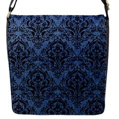 DMS1 BK-MRBL BL-DENM (R) Flap Messenger Bag (S)