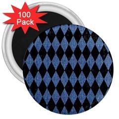 DIA1 BK-MRBL BL-DENM 3  Magnets (100 pack)