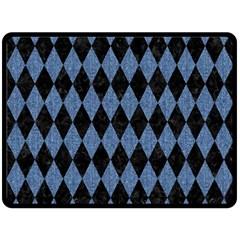 DIA1 BK-MRBL BL-DENM Fleece Blanket (Large)