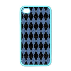 DIA1 BK-MRBL BL-DENM Apple iPhone 4 Case (Color)