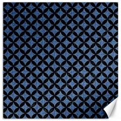 CIR3 BK-MRBL BL-DENM (R) Canvas 12  x 12