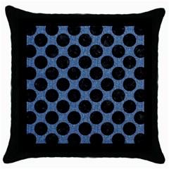 CIR2 BK-MRBL BL-DENM (R) Throw Pillow Case (Black)