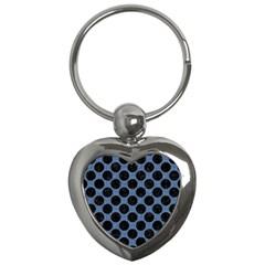 CIR2 BK-MRBL BL-DENM (R) Key Chains (Heart)