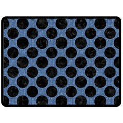 CIR2 BK-MRBL BL-DENM (R) Fleece Blanket (Large)