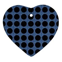 CIR1 BK-MRBL BL-DENM (R) Ornament (Heart)