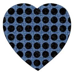 CIR1 BK-MRBL BL-DENM (R) Jigsaw Puzzle (Heart)