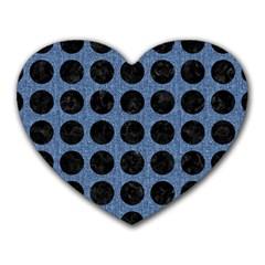 CIR1 BK-MRBL BL-DENM (R) Heart Mousepads