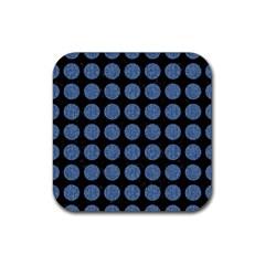 CIR1 BK-MRBL BL-DENM Rubber Coaster (Square)