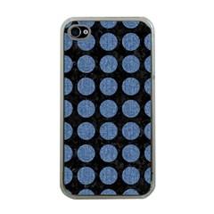 CIR1 BK-MRBL BL-DENM Apple iPhone 4 Case (Clear)