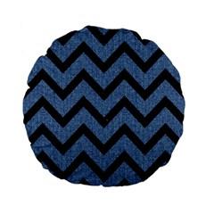 CHV9 BK-MRBL BL-DENM (R) Standard 15  Premium Flano Round Cushions
