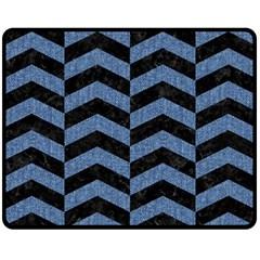 CHV2 BK-MRBL BL-DENM Fleece Blanket (Medium)
