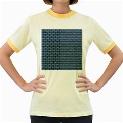 BRK1 BK-MRBL BL-DENM (R) Women s Fitted Ringer T-Shirts