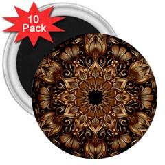 3d Fractal Art 3  Magnets (10 Pack)
