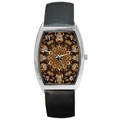 3d Fractal Art Barrel Style Metal Watch
