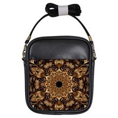 3d Fractal Art Girls Sling Bags