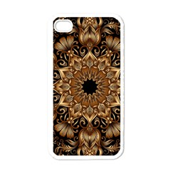 3d Fractal Art Apple iPhone 4 Case (White)