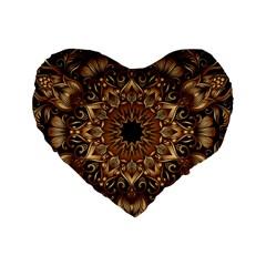 3d Fractal Art Standard 16  Premium Heart Shape Cushions