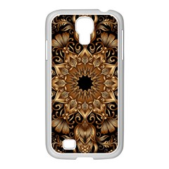 3d Fractal Art Samsung GALAXY S4 I9500/ I9505 Case (White)