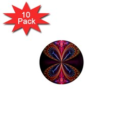 3d Abstract Ring 1  Mini Magnet (10 Pack)