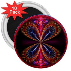 3d Abstract Ring 3  Magnets (10 pack)