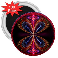 3d Abstract Ring 3  Magnets (100 Pack)