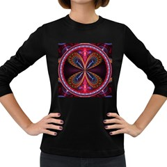 3d Abstract Ring Women s Long Sleeve Dark T-Shirts