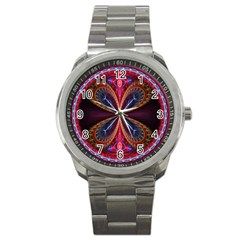 3d Abstract Ring Sport Metal Watch